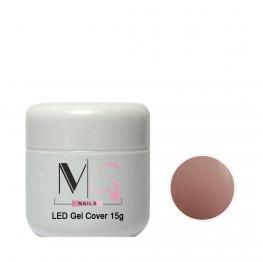 Гель камуфлирующий для наращивания MG LED Gel Cover, 15 мл